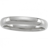 14k Gold 3mm Comfort Fit Half Round Wedding Band - Product Image
