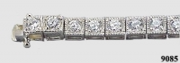 14k Gold 4 Carat Antique CZ Cubic Zirconia Tennis Bracelet. Finally, BACK IN STOCK! - Product Image