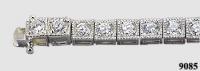14k Gold 4 Carat Antique CZ Cubic Zirconia Tennis Bracelet. Finally, BACK IN STOCK! - Product Image