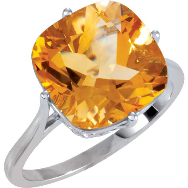 14k Gold Antique Cushion Cut Cz Cubic Zirconia 14k Antique