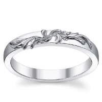 14k Gold Antique Fancy Floral Wedding Band Ring - Product Image