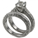 14k Gold CZ Wedding Sets