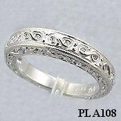 Platinum Antique Engagement Wedding Band Ring Shipping Terra S
