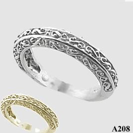 Filigree Wedding Band.Platinum Antique Fancy Filigree Wedding Band Ring