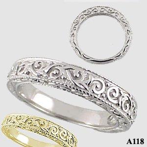 Platinum Antique Victorian Wedding Anniversary Band Ring