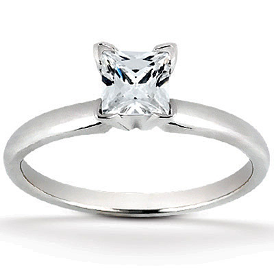 Solid 14k Gold Cz Cubic Zirconia 4 V Prong Princess Cut Solitaire Engagement Ring Shipping Terra S Jewelry