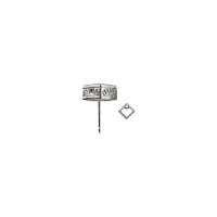 Solid 14k Gold Princess Cut Filigree Bezel CZ Cubic Zirconia Earrings - Product Image
