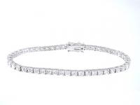 Sterling Silver 5 Carat CZ Cubic Zirconia Tennis Bracelet - Product Image