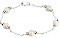 Sterling Silver and 14k Yellow Gold Fashion Chain or Bracelet - Product Image